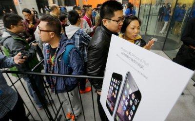 Apple es líder en venta de smartphones en China