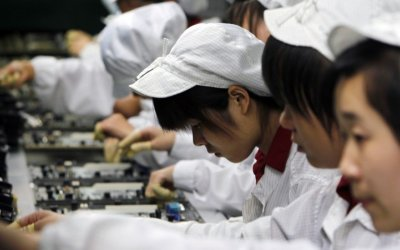 Manufactura china cae en agosto